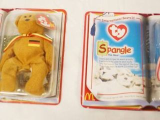 lot of 2  Happy Meal  Collectible Ty Original Beanie Babies   Germina and Spangle  in Original Packaging