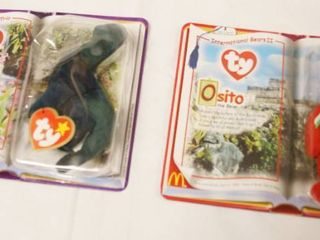lot of 2  Happy Meal  Collectible Ty Original Beanie Babies    Bronty and Osito  in Original Packaging