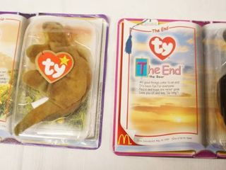 lot of 2  Happy Meal  Collectible Ty Original Beanie Babies   Steg and The End  in Original Packaging