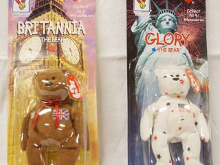 lot of 2  Happy Meal  Collectible Ty Original Beanie Babies    Britannia and Glory  in Original Packaging