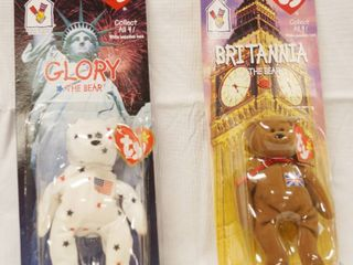 lot of 2  Happy Meal  Collectible Ty Original Beanie Babies    Glory and Britannia   in Original Packaging