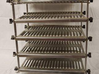 Metal Food Shelf  Aprox 17  Tall