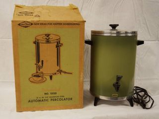 Insulated Automatic Percolator  13525  w  Original Box