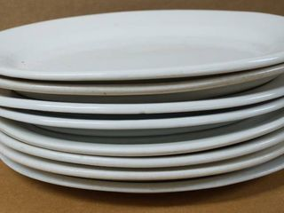 lot of 8 Oval Plates  11  x 9