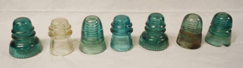 lot of 7 Vintage Insulators