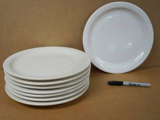 lot of 8 Round Plates  10 1 2  Wide