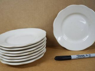 lot of 8 Saucers  appox  6  Wide