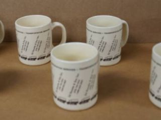 lot of 7 Coffee Cups