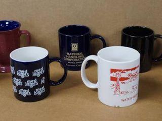 lot of 8 Coffee Cups   2 Are Black Marlboro