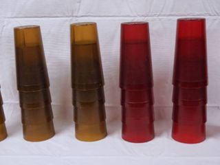 lot of 24 Plastic Drinking Glasses