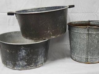 lot of 3 Pots