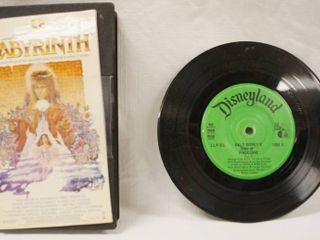 Vintage 7  Record    Walt Disney s   Pinocchio     VHS Movie    labyrinth