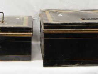 lot of 2 Metal Boxes  See Photos For Sizes