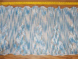 Crocheted Table Runner or Dresser Scarf Very Detailed Workmanship