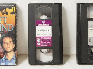 lot of 3 VHS Movies  left Behind  Caddyshack  The Man and The Moon