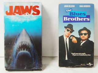 2 VHS Movies  Jaws  Anniversary Collector s Edition and Blues Brothers