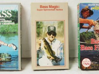 lot of 3 VHS Tapes  Bass Fishing