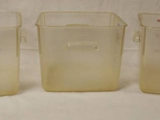 lot of 3 Plastic Containers