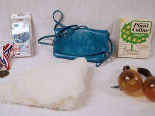 Coby Ear Buds in Original Box  Hand Purse  Plant Collar in Original Box  Curtian Brackets  See Photos