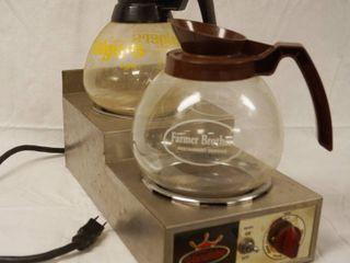 Vaculator Warmer and 2 Glass Coffee Pots