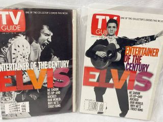Elvis Presley  lot of 2   Collectible TV Guide