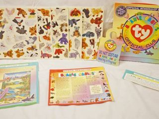 Collectible Ty Beanie Babies Official Club w  Stickers