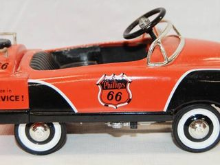Phillips Petroleum  Pedal Car Tanker Bank  w  Key  limited Edition  First Edition  Die Cast Metal