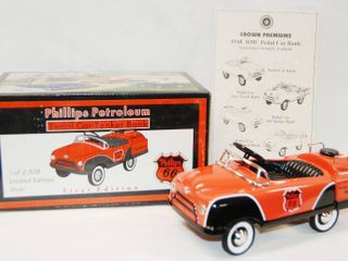 limited Edition  Phillips 66 Petroleum  Pedal Car Tanker Bank w  Key  with Original Box  First Edition