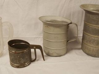 lot of 2 Metal Pitcher and 1 Plastic