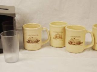 lot of Coffee Mugs  Napkin Holder and More