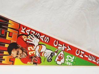 Kansas City Chiefs Football Banner  with Marcus Allen  32