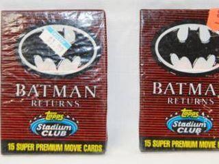 lot of 4 Collectible  Still in Original Plastic  Batman Returns  Topps Stadium Cards  15 Super Premium Movie Cards