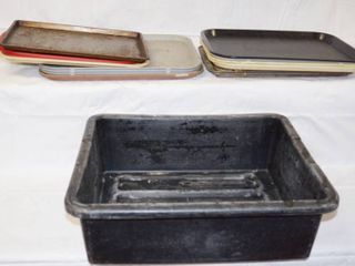 lot of Trays and 2 large Tubs