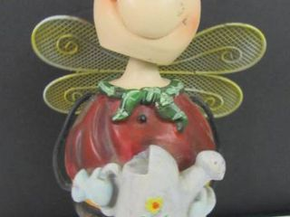 lady bug bobble head garden decor 8 1 2 in H