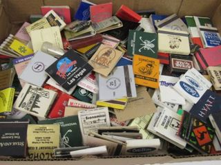 lot of various matchbooks