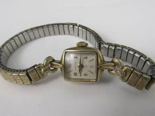 Hamilton womens wristwatch  10K R G P Bezel