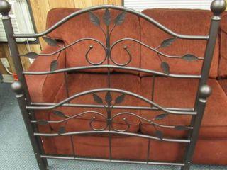 Bronze color Ivy pattern metal twin head foot board