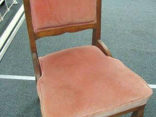 Antique chair w  cranberry velvet