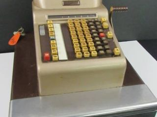 Antique R C  Allen Register and cash drawer w  Key