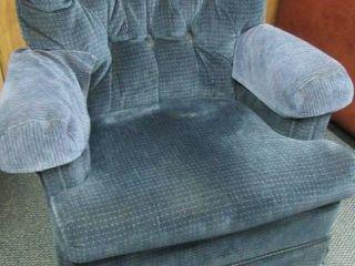Blue swivel  rocking chair