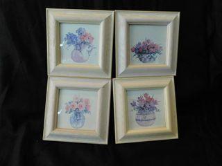 Framed Print Set  4 ea