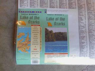 Ozark Region laminated Map
