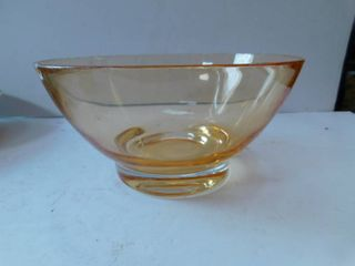 Nice Amber lucite Serving Bowl