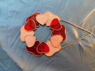 Glass Heart Suncatcher Wreath