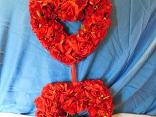 Double Valentine Heart Wreath