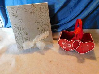 Silver Box   Metal Valentine Basket