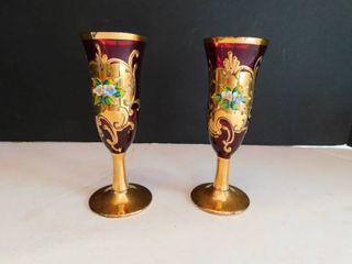 Italian Bud Vases  2 ea
