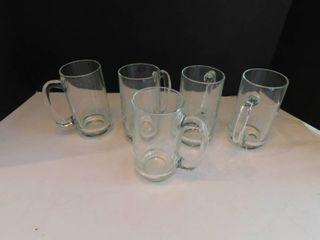 Glass Mugs  5 ea