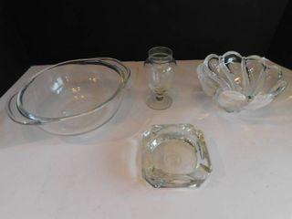 Vintage Glassware  4 ea