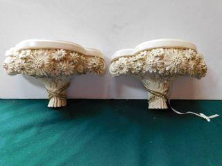 Ornate Wall Shelves  Pair
